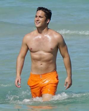 Diego Boneta Hits the Beach