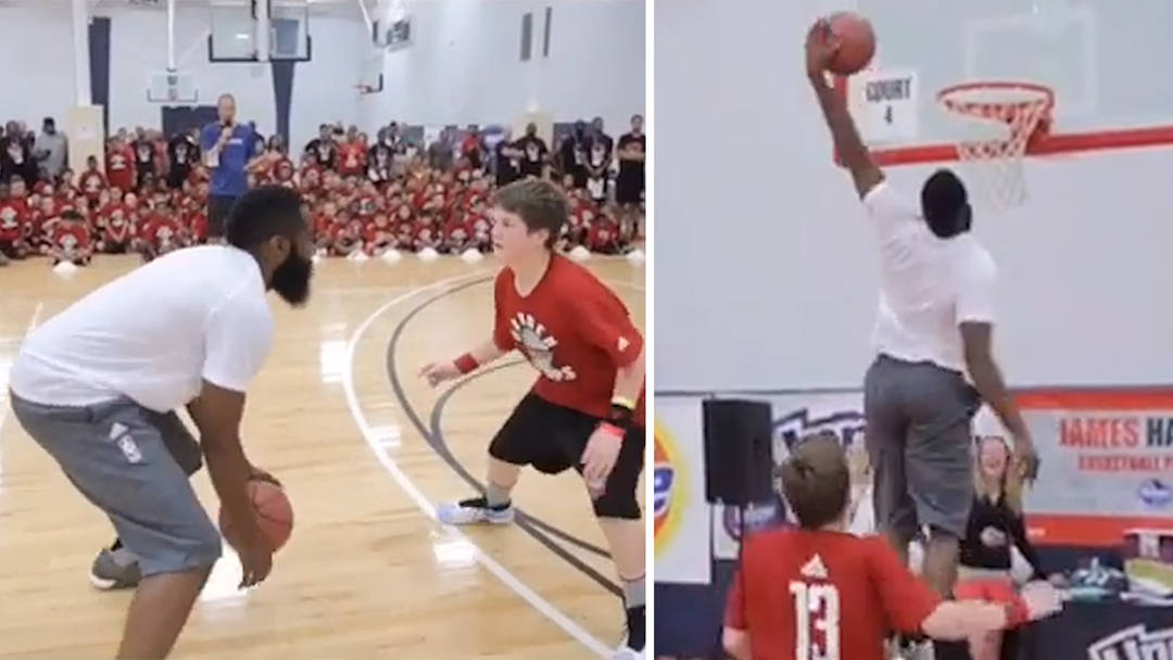 b557d62e89bb James Harden Destroys Kid At Basketball ... With Awesome Houdini Move