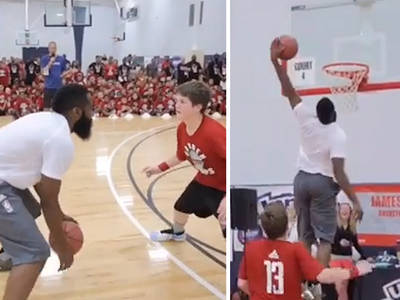 6c7310a03b01 (VIDEO) · James Harden -- Destroys Kid At Basketball ... With Awesome  Houdini Move (