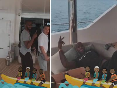 Dwyane Wade -- Banana Boat Pic Immortalized ... With Wacky Snapchat Filter (VIDEO)