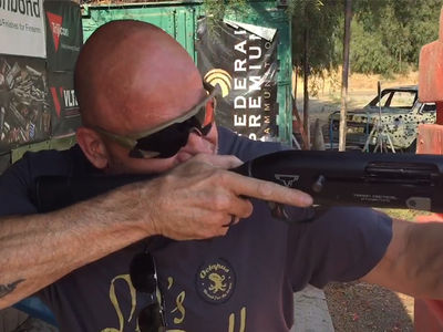 MMA Legend Bas Rutten -- 3-Gun Shogun ... Bustin' Shots At L.A. Gun Range (VIDEO)