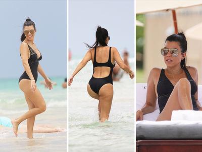 Kourtney Kardashian -- Suns Out, Buns Out In Miami (PHOTO GALLERY)