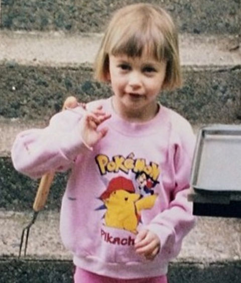 Before this little Pokemon fan evolved into a big time model, she was just another cute kid trying to catch 'em all in Tucson, Arizona.