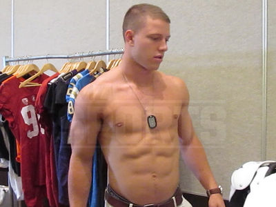 Christian McCaffrey -- Check Out These Abs ... Seriously, I'm Ripped. (VIDEO)
