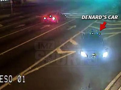 NFL's Denard Robinson -- Video Shows Car Drifting Across Traffic ... Before Crashing In Pond