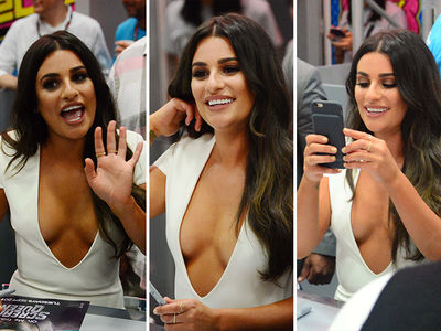 Lea Michele -- I'm the Comic Bomb at Comic-Con (PHOTO)
