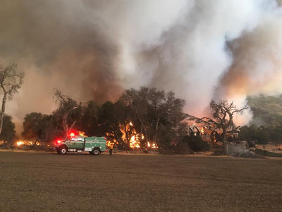 So. Cal Wildfire -- Famous Movie Ranch Up in Flames