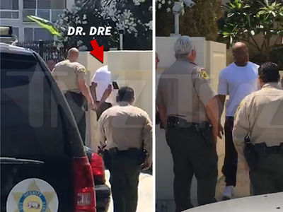 Dr. Dre -- Searched By Cops in Alleged Racial Road Rage Case (PHOTO + VIDEO)