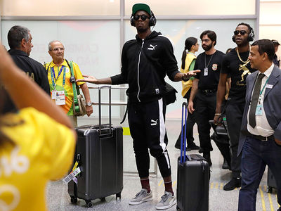 Usain Bolt -- I HAVE ARRIVED ... Touches Down In Rio (PHOTOS)