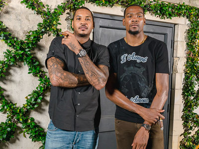 Kevin Durant & Carmelo -- Cigars, Wine & Expensive Watches ... At Olympic Send-off Party (PHOTO GALLERY)