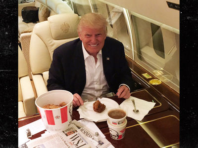 Donald Trump -- Finger Lickin' Good Ain't for Me (PHOTO)