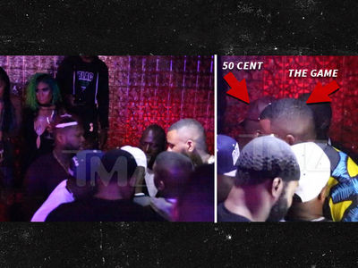 50 Cent & The Game -- No Need for Beefing ... When Ladies Are Stripping (VIDEO)