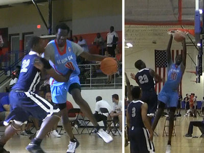 Manute Bol's 7 Ft Son -- Dominating Puny Humans ... At 16 Years Old (VIDEO)