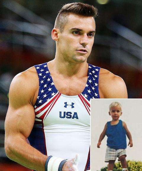 It's USA Gymnast Samuel Mikulak