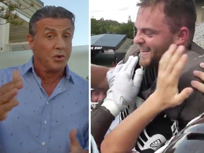 Sylvester Stallone -- Rambo Ambushes College FB Player ... With Scholarship Offer