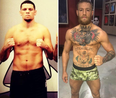 Total UFC Knockout? Nate Diaz (31) vs. Conor McGregor (28)