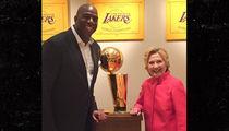 Magic Johnson -- House Party for Hillary Clinton ... With Sam Jackson! (PHOTOS + VIDEO)