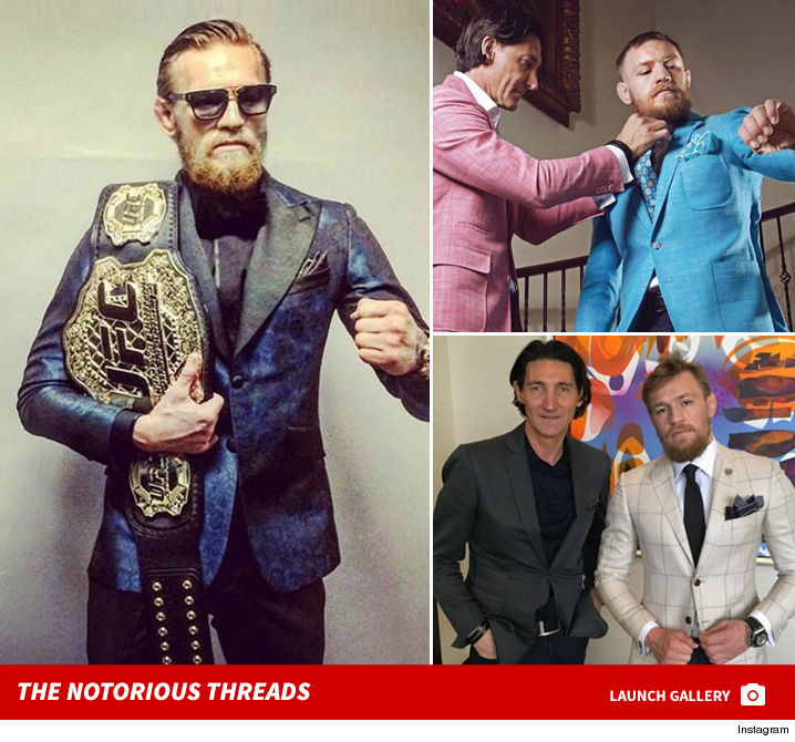ca239e39ae It takes 60 HOURS and thousands of dollars to make every single custom suit  for Conor McGregor ... and the guy has DOZENS of 'em ... so says his  personal ...