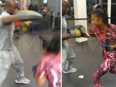 Christina Milian -- I'm Gonna Knock You Out with REAL Ring Skills  (VIDEO)
