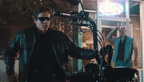 Arnold Schwarzenegger's Son -- Bad To The Bone Like Dad ... In 'T2' Bar Scene (VIDEO)