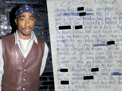 Tupac -- OG Lyrics for Sale ... If You Got Rack$$ (PHOTOS)
