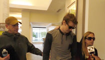Brock Turner -- Runs Gauntlet with His Parents (VIDEO)