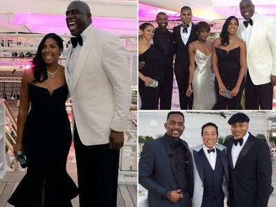 Magic & Cookie Johnson -- Star-Studded Anniversary Party ... LL Cool J, Smokey Robinson, Pat Riley (PHOTO GALLERY)