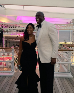 Magic and Cookie Johnson -- The Anniversary Party in Monaco
