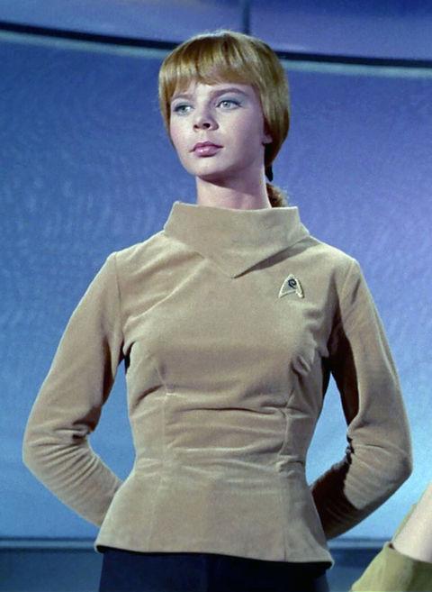 """Laurel Goodwin as """"Yeoman J. M. Colt."""""""