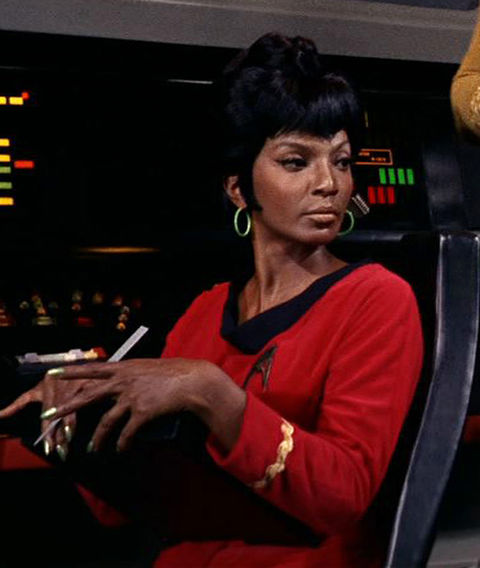 "Nichelle Nichols as ""Uhura."""