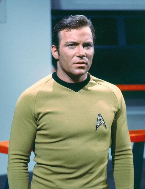 "William Shatner as ""Captain James T. Kirk."""