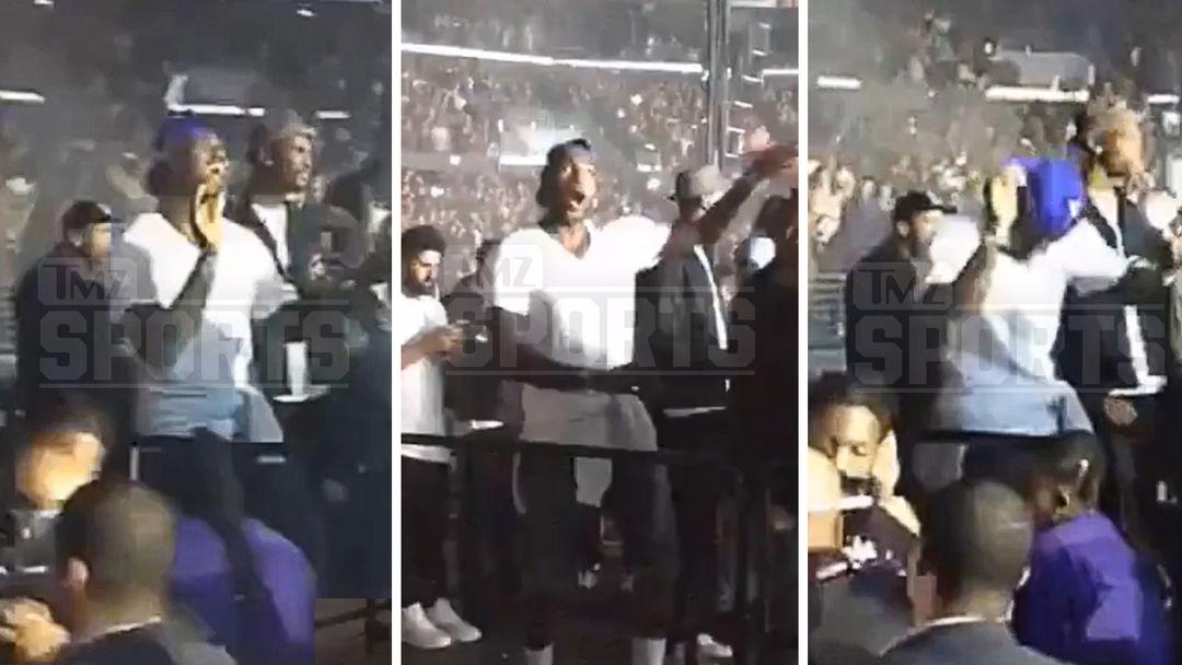 b8cb81755396 LeBron James Turns Up At Drake Concert