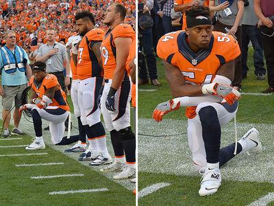 Denver Broncos Brandon Marshall -- Pulls a Kaepernick in NFL Kickoff Game (PHOTO)