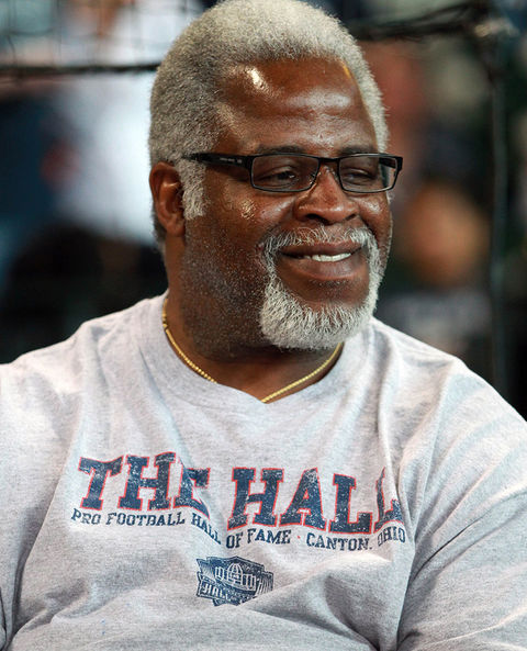 Earl Campbell was photographed looking audible.