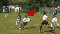 Chad Johnson's Daughter -- Little Miss Messi ... DOMINATING Kids In Youth Soccer (VIDEO)