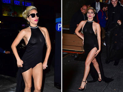 Lady Gaga -- Whole Lotta Legs & Boobs ... Happy 90th Tony Bennett! (PHOTOS + VIDEO)