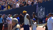 LeBron James -- Heckled at Rams Game ... 'Kobe! Kobe! Kobe!' (VIDEO + PHOTO GALLERY)