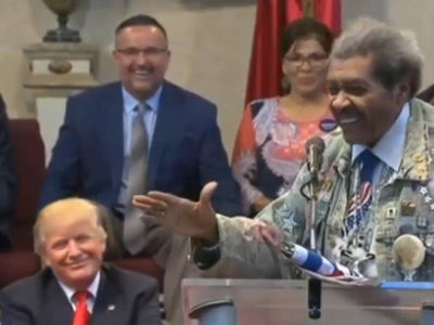 Donald Trump -- Thanks a Lot, Don King ... Awkward N-Word Moment (VIDEO)