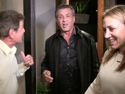 Sylvester Stallone -- I'm Alive!!! And Eating with Frankie Avalon (VIDEO)
