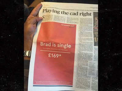 Brad Pitt -- A Good Reason to Fly Commercial (PHOTO)
