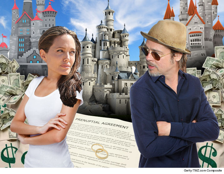 Brad Pitt Angelina Jolie S Prenup Is Clear Tmz Com