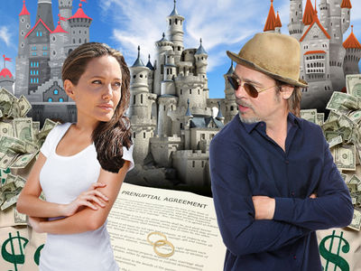 Brad Pitt & Angelina Jolie -- The Prenup is Clear ... Splitting Properties Is No Biggie ... But Kids Will Be