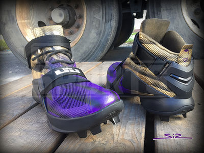 Terrell Suggs --  I'm 'The King' Of The Gridiron ... Custom LeBron Cleats!! (PHOTOS)