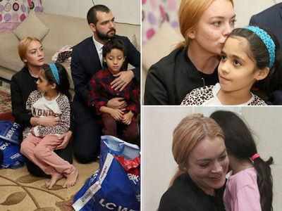 Lindsay Lohan -- Pulls an Angelina ... Visits Syrian Refugees (PHOTO GALLERY)