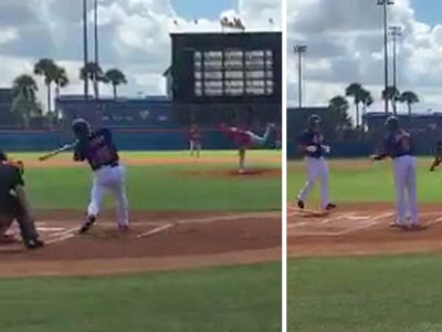 Tim Tebow -- HOME RUN IN FIRST AT-BAT ... In Instructional League Game