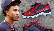 CLE Indians' Francisco Lindor -- Custom Playoff Cleats ... 'BelieveLand' (PHOTO)