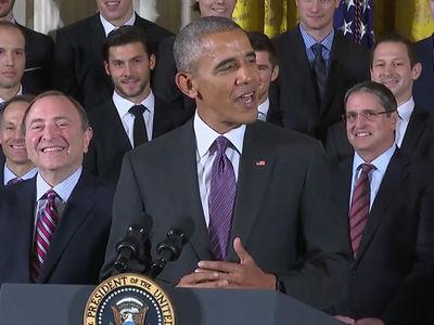 President Obama -- Crackin 'Bad Jokes' ... During Penguins Visit (VIDEO)