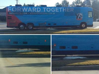 Hillary Clinton Campaign Bus -- Ain't That Some S***! Cops Investigate Street Dump (PHOTOS)