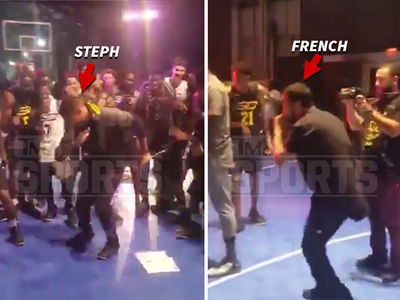 Steph Curry -- Calls on French Montana for Sneaker Launch