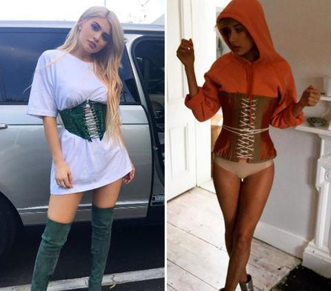 Kylie Jenner (19) vs. Hailey Baldwin (19) Corset cuties!